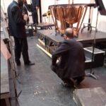 Cayó del techo una madera de 4 metros sobre el escenario en pleno concierto de la orquesta sinfónica